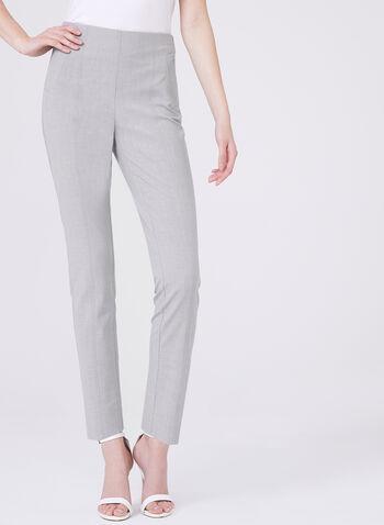 Amber Slim Leg Ankle Pants, Grey, hi-res