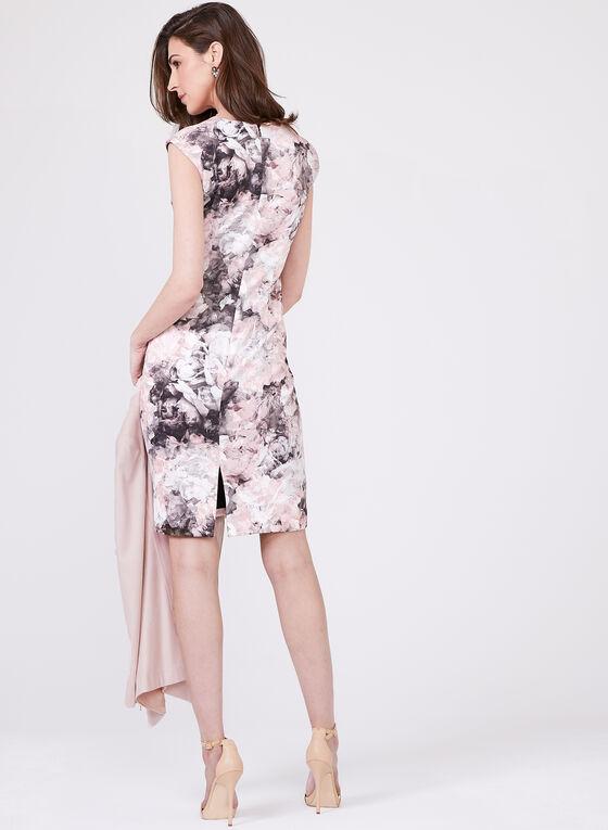 Chetta B -  Robe fourreau sans manches à motif floral, Multi, hi-res