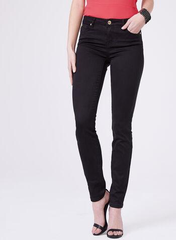 Super Soft Slim Leg Jeans, Black, hi-res