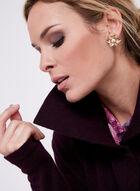 Lapel Collar Knit Cardigan, Purple, hi-res