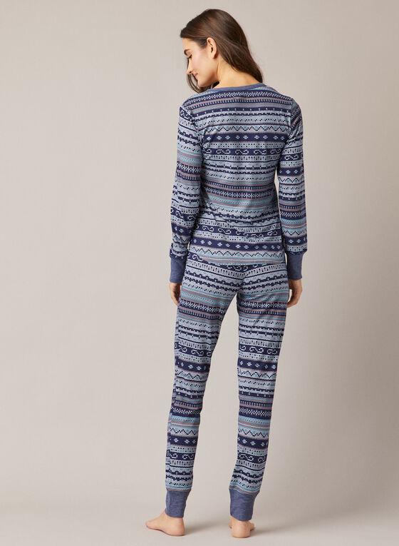 Winter Print Pyjama Set, Blue