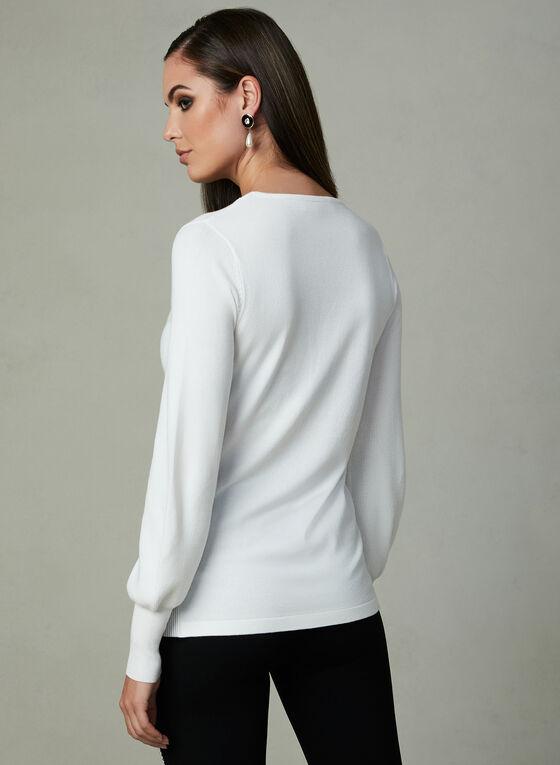 V-Neck Sweater , Off White, hi-res