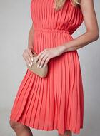 Maggy London - Robe plissée sans manches, Orange, hi-res