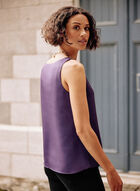 Sleeveless V-Neck Blouse, Purple