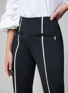 Joseph Ribkoff - Contrast Trim Pants, Black, hi-res