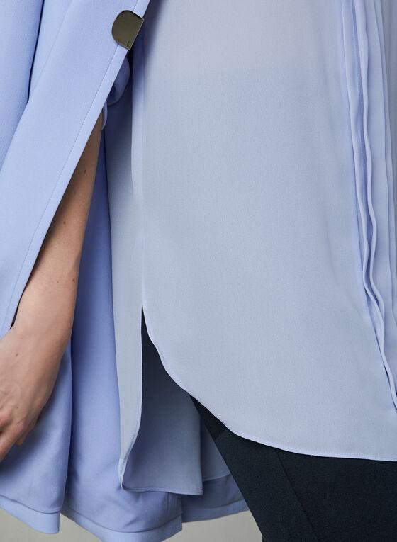 ¾ Sleeve Chiffon Blouse, Grey