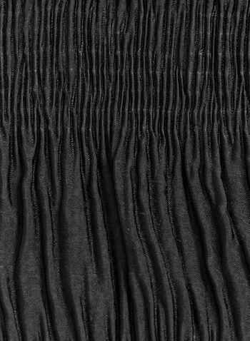 Foulard léger froncé, Noir, hi-res