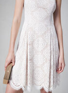 Vince Camuto - Scalloped Lace Dress, Off White, hi-res