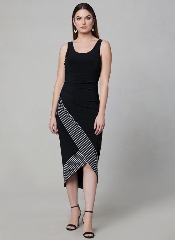 Joseph Ribkoff - Sleeveless Jersey Dress, Black, hi-res