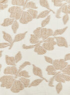 Floral Jacquard Print Wrap, Brown, hi-res