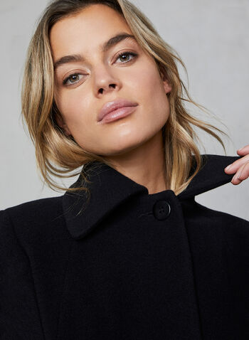 Mallia - Wool Blend Coat, Black,  coat, wool, cashmere, long sleeves, discreet pockets, Mallia, fall 2019, winter 2019