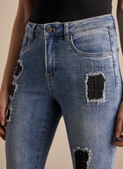 Joseph Ribkoff - Crystal Embellished Jeans , Blue