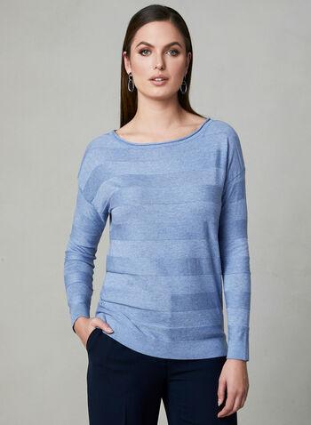 Dolman Sleeve Sweater, Blue, hi-res