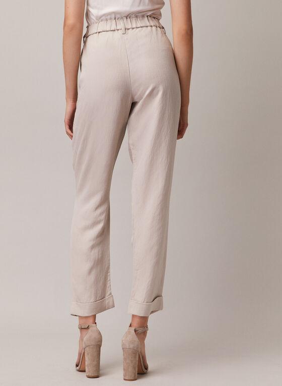 Linen Blend Straight Leg Pants, Off White