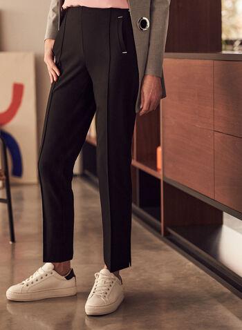 Pantalon Amber coupe tailleur, Noir,  printemps été 2021, pantalon, Amber, tailleur, jambe étroite, taille haute, bi-stretch