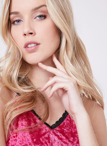 Nanette Lepore - Iridescent Velvet Pajama Set, Red, hi-res