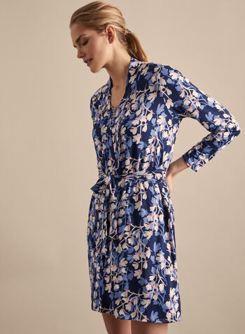 Hamilton - , Blue,  Canada, Hamilton, pyjama, sleepwear, polka dots, floral print, pyjama set, nightgown, bathrobe, spring 2020, summer 2020