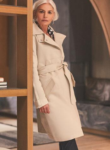 Novelti - Trench zippé à ceinture, Gris,  manteau, trench, ceinture, zip, coton, satin ,printemps été 2020