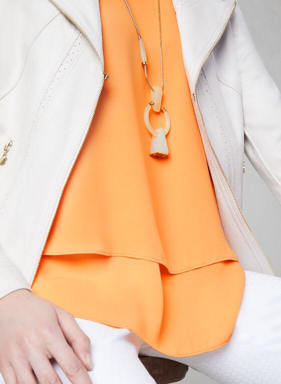 Blouse sans manches étagée, Orange