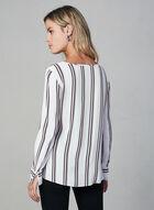 Blouse à motif zigzag, Blanc, hi-res