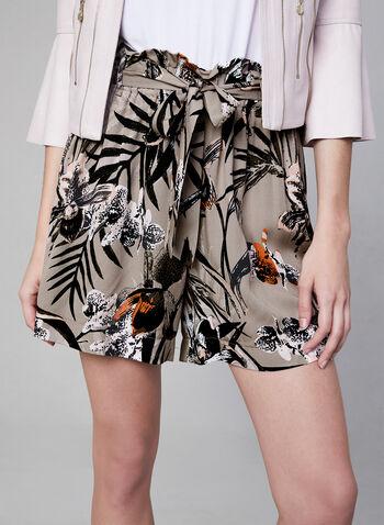 Jules & Leopold - Short à motif tropical, Brun, hi-res
