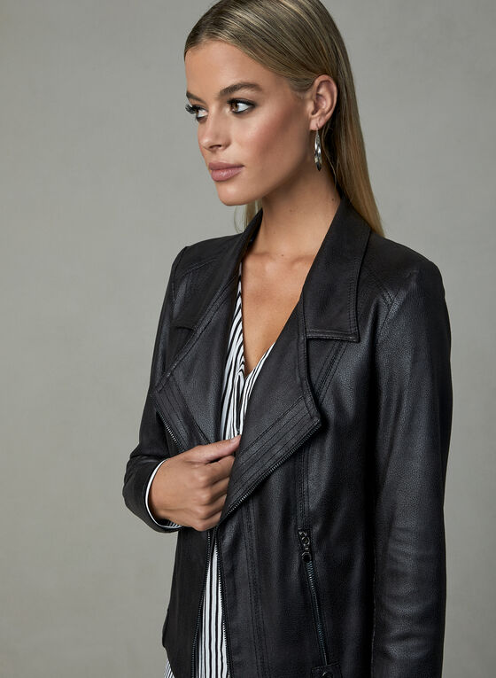 Vex - Faux Leather Jacket, Black, hi-res