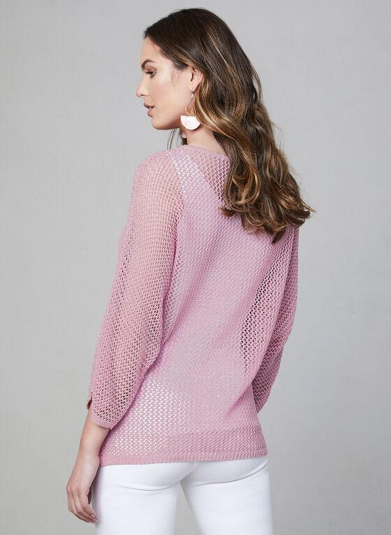 Pull en tricot à manches dolman, Rose, hi-res
