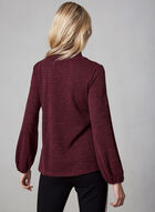 Cowl Neck Top, Red, hi-res