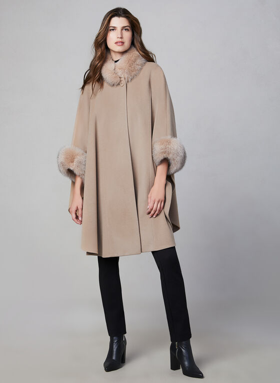 Mallia - Wool & Cashmere Blend Cape, Brown