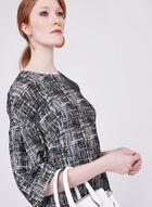 Maggy London - Abstract Print Jacquard Sheath Dress, Black, hi-res