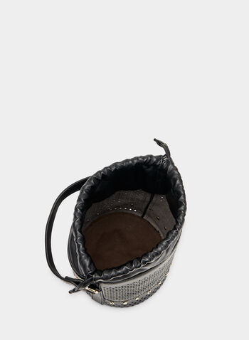 Perforated Bucket Bag, Black, hi-res