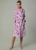 Chic-a-mo - Floral Print Robe, Purple, hi-res