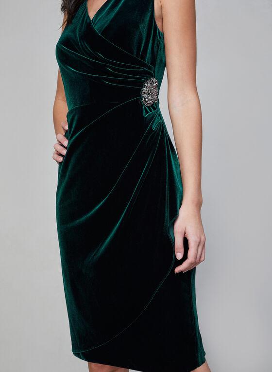 Alex Evenings - Robe en velours à effet drapé, Vert