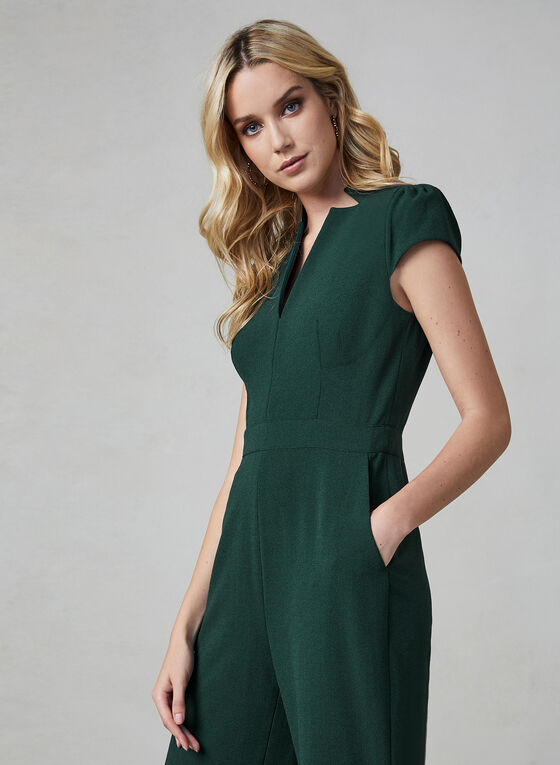 Vince Camuto - Short Sleeve Jumpsuit, Green
