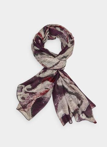 Foulard oblong motif cachemire, Noir, hi-res,  foulard, cachemire, automne hiver 2019