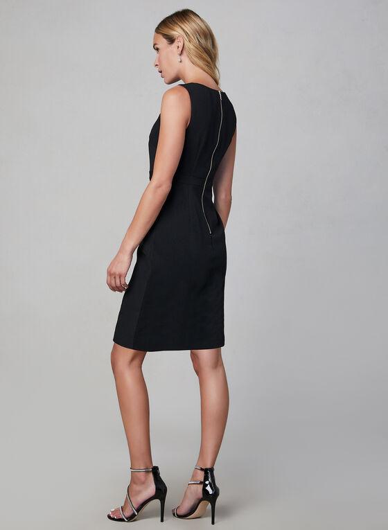 Adrianna Papell - Robe sans manches texturée, Noir, hi-res