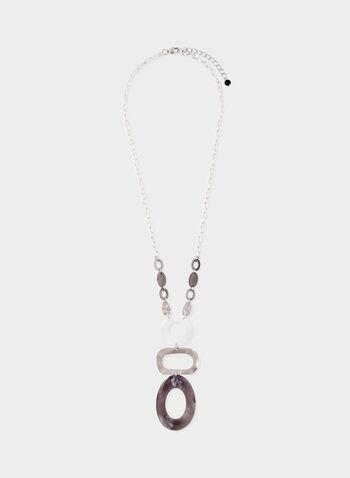 Collier à pendants géométriques , Noir, hi-res