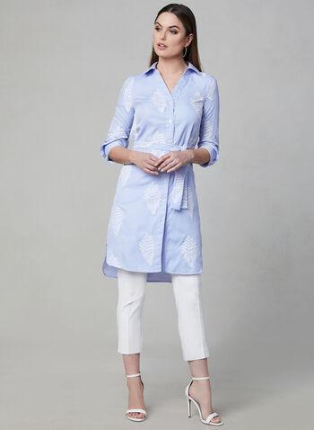 Linea Domani - Stripe Print Tunic, Blue, hi-res