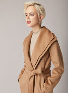Tahari - Long Belted Coat, Brown