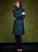 Stand Collar Tapestry Coat, , hi-res