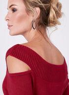 Pull tricoté à col Cléopâtre et épaules ajourées, Rouge, hi-res