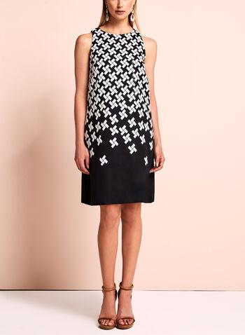 T Tahari - Sleeveless Geometric Print Dress, , hi-res
