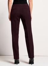 Pantalon Lauren Petite bi-matière à jambe droite, Rouge, hi-res