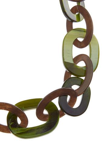 Collier à gros maillons en plexiglas, Vert, hi-res