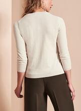 Double Layer Crew Neck Sweater, Grey, hi-res