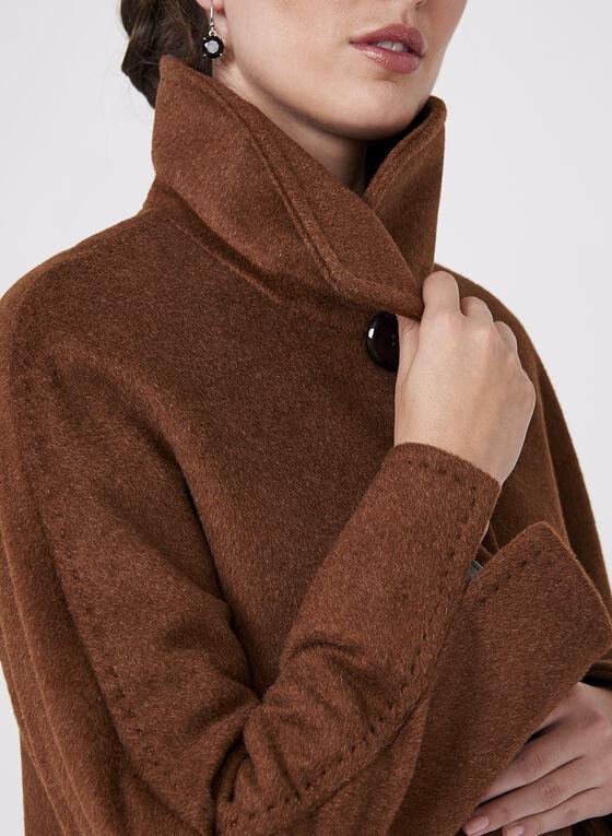 Ellen Tracy - Manteau en laine et angora, Brun, hi-res