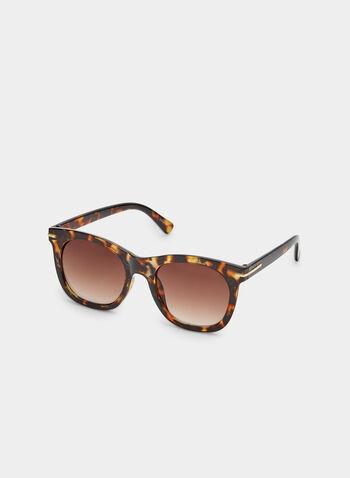 Tortoise Shell Sunglasses, Brown, hi-res