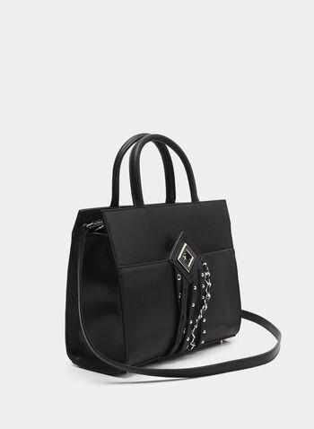 CÉLINE DION - Faux Leather Satchel, Black,