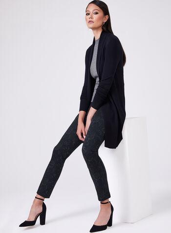 Madison Paisley Print Pants, Black,