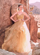 Terani Couture - Tiered Tulle Ball Gown, Off White, hi-res